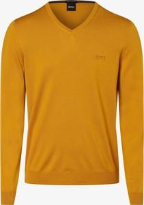 Żółty sweter Hugo Boss z wełny