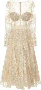 Sukienka Alexander McQueen z jedwabiu z długim rękawem