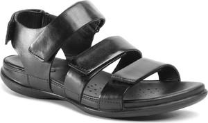 Sandały Ecco ze skóry z płaską podeszwą