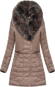 Brązowy płaszcz Libland długa w stylu casual
