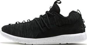 Czarne buty sportowe K1X sznurowane z zamszu