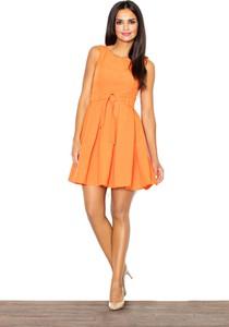Pomarańczowa sukienka Figl bez rękawów