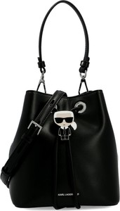 Czarna torebka Karl Lagerfeld na ramię