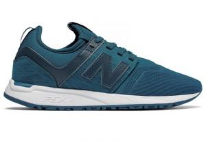 Buty New Balance z płaską podeszwą w sportowym stylu sznurowane