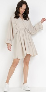 Sukienka born2be w stylu casual mini z długim rękawem