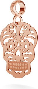 GIORRE SREBRNY CHARMS BEADS ZAWIESZKA CUKROWA CZASZKA 925 : Kolor pokrycia srebra - Pokrycie Różowym 18K Złotem , Wariant - Beads