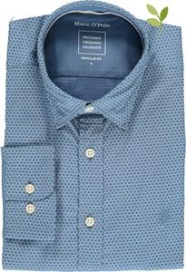 Niebieska koszula Marc O'Polo z klasycznym kołnierzykiem z bawełny
