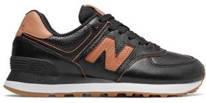 Buty sportowe New Balance sznurowane z płaską podeszwą ze skóry
