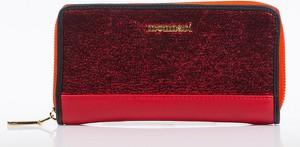 Czerwony portfel Monnari ze skóry