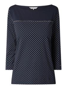 Granatowa bluzka Tommy Hilfiger z bawełny z długim rękawem w stylu casual