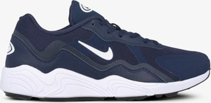 Granatowe buty sportowe Nike ze skóry sznurowane
