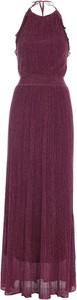 Fioletowa sukienka M Missoni z dekoltem w kształcie litery v maxi