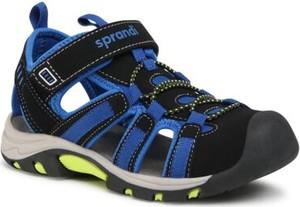 Czarne buty dziecięce letnie Sprandi