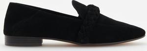 Czarne półbuty Reserved w stylu casual
