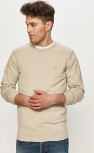 Sweter Guess z okrągłym dekoltem z dzianiny