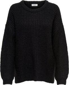 Czarny sweter JACQUELINE DE YONG w stylu casual z dzianiny