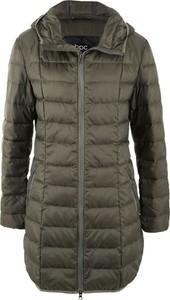 Zielony płaszcz bonprix bpc bonprix collection bez wzorów