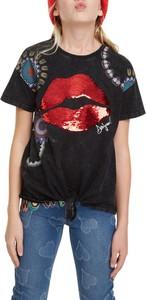 Czarna koszulka dziecięca Desigual