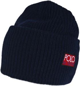 Granatowa czapka POLO RALPH LAUREN z dzianiny