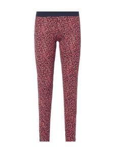 Różowe legginsy Tommy Hilfiger z bawełny w stylu casual
