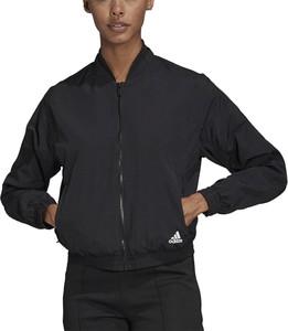 Kurtka Adidas z tkaniny w sportowym stylu