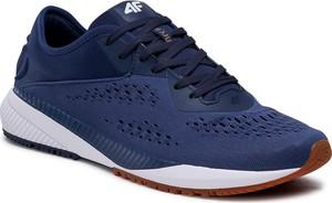 Granatowe buty sportowe 4F z płaską podeszwą