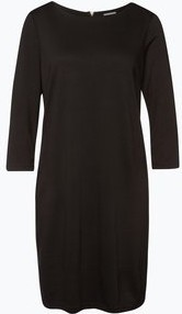 Czarna sukienka Vila midi z okrągłym dekoltem oversize