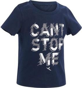 Niebieska koszulka dziecięca Domyos z krótkim rękawem
