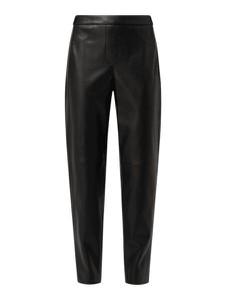 Czarne spodnie Gerry Weber w stylu casual ze skóry ekologicznej