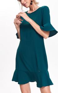 Zielona sukienka Top Secret z okrągłym dekoltem mini