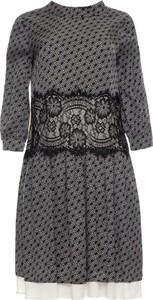 Sukienka Twinset w stylu casual rozkloszowana z okrągłym dekoltem