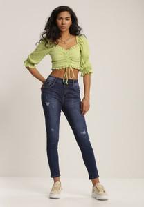 Granatowe jeansy Renee