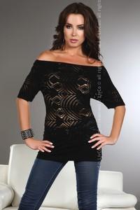 Bluzka Livia Corsetti z żakardu z krótkim rękawem w stylu casual