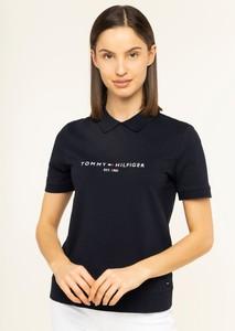 Bluzka Tommy Hilfiger z kołnierzykiem w młodzieżowym stylu
