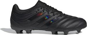Czarne buty sportowe Adidas ze skóry
