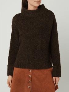 Brązowy sweter Opus z wełny