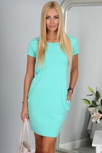 Sukienka Fasardi oversize mini z krótkim rękawem