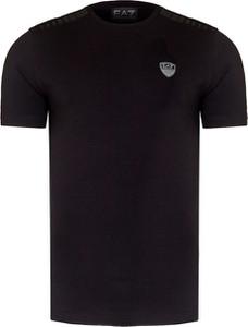 Czarny t-shirt Emporio Armani z krótkim rękawem z bawełny