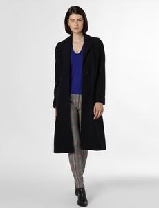 Granatowy płaszcz BOSS Casual z kaszmiru