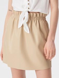 Spódnica Sinsay ze skóry ekologicznej mini