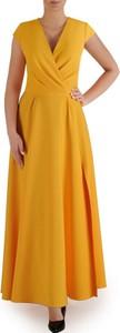 Sukienka POLSKA z dekoltem w kształcie litery v bez rękawów maxi