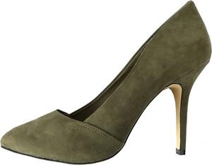 Zielone szpilki Bianco Footwear w stylu klasycznym na obcasie