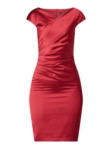 Sukienka Swing kopertowa z dekoltem w kształcie litery v z krótkim rękawem