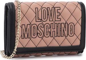 Różowa torebka Love Moschino na ramię pikowana