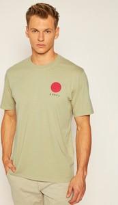T-shirt Edwin z nadrukiem w stylu casual z krótkim rękawem