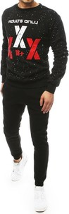 Czarny dres Dstreet z bawełny z nadrukiem