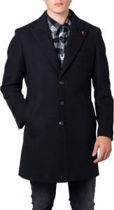 Czarny płaszcz męski Mulish