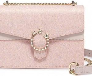 Różowa torebka Nucelle mała w stylu casual