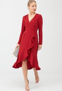 Czerwona sukienka V by Very midi