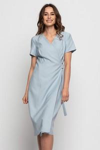 Niebieska sukienka Bialcon z dekoltem w kształcie litery v